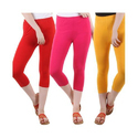 Ladies Plain Capri Leggings