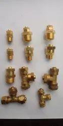 Pneumatic PU Brass Fittings, Size: 6mm, 8mm, 10mm, 12mm, 16mm
