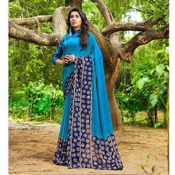 Georgette fancy Printed Saree