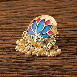 Indo Western Trendy Ring with gold plating 9394