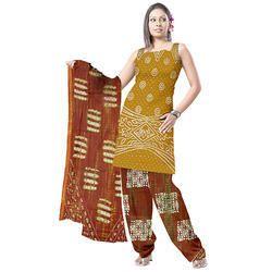 Fancy Print Bandhani Suit
