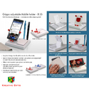 Mobile Holder With Angle Adjustment, Pen Stand, and Notepad