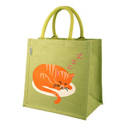 Decorated Jute Shopping Bag