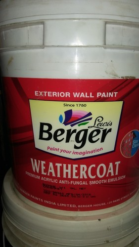 Berger weather coat premium exterior emulsion paint pack - Exterior painting temperature minimum ...