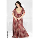Female Half Rayon Knitted Nightwear