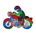 Alphabet And Number Wooden Jigsaw Puzzle - Bike (1tng270)