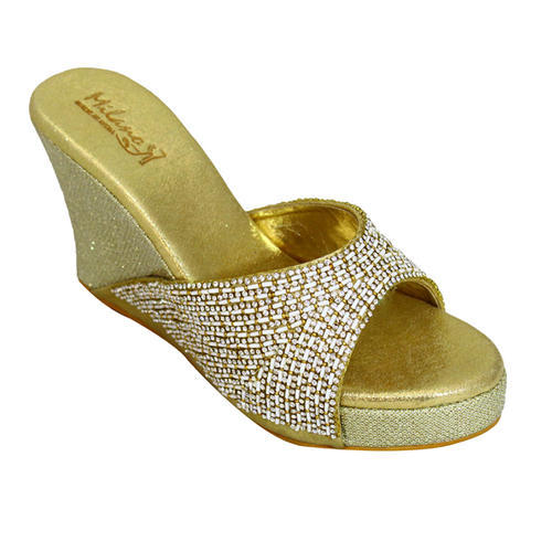 a956cd4e8b5dc1 Milano Golden Bridal Flats Sandals
