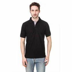 Mens Black Polo Promotional T-Shirts