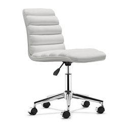Armless Leather Boss Chair