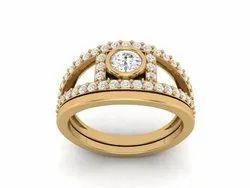 925 Sterling Silver Round  Wedding Ring