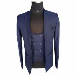 Party Plain Mens Navy Blue Cotton Suit, Size: 36-44, Packaging Type: Packet