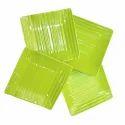 Melamine Square Snack Plate - 4 Pcs (Green)