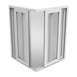 Grey, White UPVC L Type Sliding Window