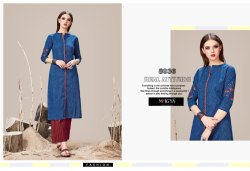 Blue Designer Kurti with Pants