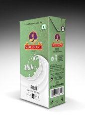 Pasteurized Shreemant Taaza Homogenised UHT Milk, Fat: 3, Quantity Per Pack: 12 Units Per Box
