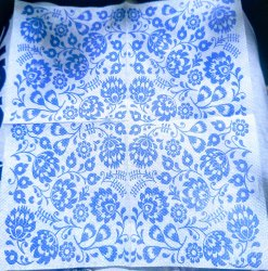 White Printed Tissue Paper Napkin, For Home, GSM: Less than 80