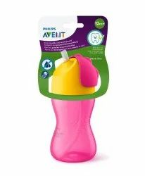 Pink Plastic Philips Avent My Bendy Straw Cup, Packaging Type: Box, Size: 240 Ml