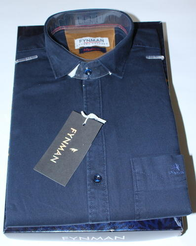 bde0f552cd Men's Pure Cotton Navy Blue Plain Shirt, Size: 38.0 - 42.0, Rs 350 ...