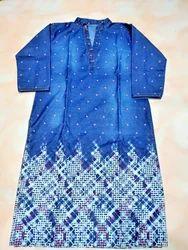 Ladies Full Sleeve Cotton Printed Kurti