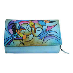 Custom Branding Avialable Hand Painted Leather Purse d8dfcb10961d6