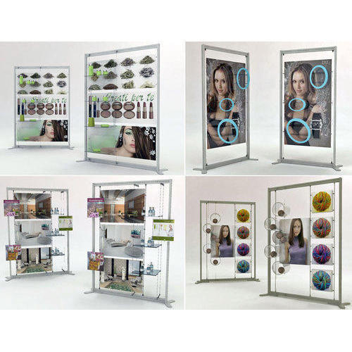 Exhibition Display Racks : Acrylic cosmetic studio display rack rs piece sk