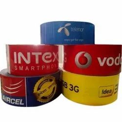 Multicolor Plastic Promotional Tape, Thickness: 40 Micron