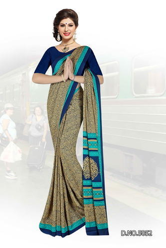 Sd crepe Uniform saree