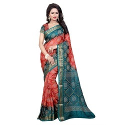 Ramapir Fashion Women's Wear Panetar Bandhani Saree
