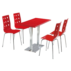 Food Court Chair And Table Set