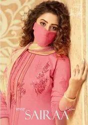 Levisha Sairaa Palazzo Style Dresses With Mask Catalog Collection