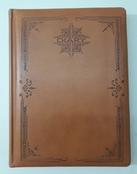 Brown Printed Diary