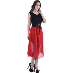 Women A-line Red Dress