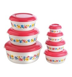 Round Plastic Food Container Foil Printed