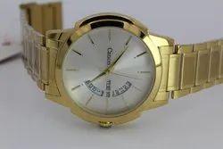 Men Golden Designer Wrist Watch