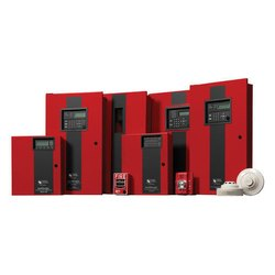 Red Honeywell Fire Alarm System