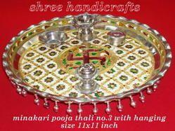Meenakari Pooja Thali No 3
