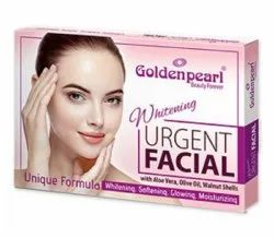 Golden Pearl Beauty Forever Whitening Urgent Facial with Aloe Vera, Olive Oil, Walnut Shells. Unique