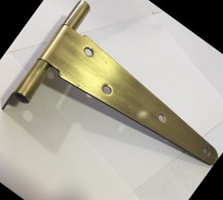 Stainless Steel Brass T Hinges, Gold, Thickness: 2.1 - 2.5 mm
