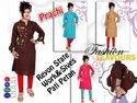Rayon Full Sleeves Straight Kurti