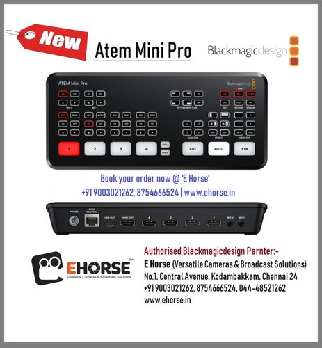 Blackmagic Atem Mini Pro At Rs 56000 Unit Video Switcher Id 22224475048