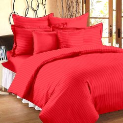 Cotton Plain Satin Bed Sheets
