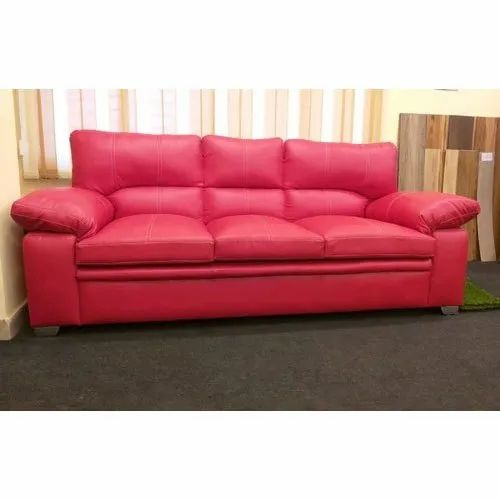 Pink Leather Sofa Set At Rs 32000 Seat
