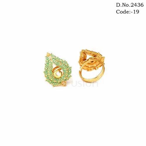 Finger Rings Antique Kundan Finger Ring Exporter From Mumbai