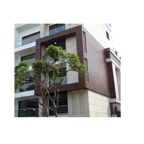 The English Oak Brown Exterior Home Wooden Cladding, Thickness: 4-6 mm, for Outdoor Cladding