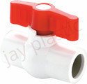 JAY PP White Solid Ball Valve (plain)