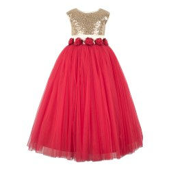 Toy Balloon Kids Red Princess Gowns, Age: 2-3 to 11-12 Years