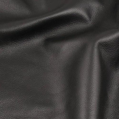 Black Semi Aniline Leather