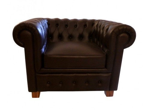 Sebastian Leather Single Seater Chesterfield Sofa At Rs 45000
