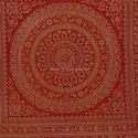 Maroon Mandala Brocade Bolster Cover