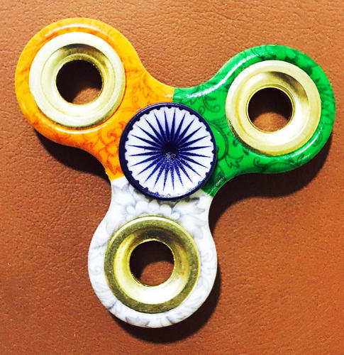 Indian Flag Design Printed Hand Fidget Spinner